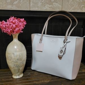 Kate Spade Schuyler Tote Optic White Multi Leather